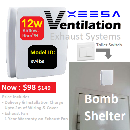 Ventilation System SwitchType Bomb Shelter 12W