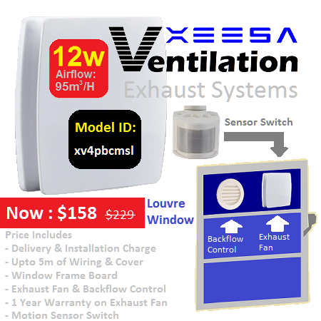 Ventilation System BC Louvre Motion Sensor 12w