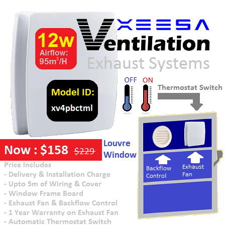 Ventilation System BC Louvre Thermostat Type